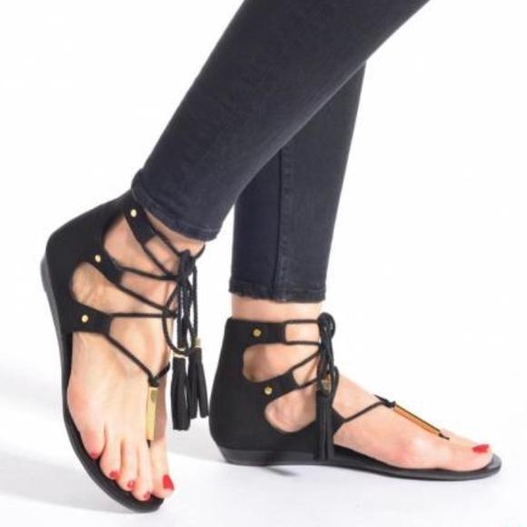 5b5ec86f146c Aldo Shoes - ALDO JAKKI 98 Lace Up Sandals w  Tassels